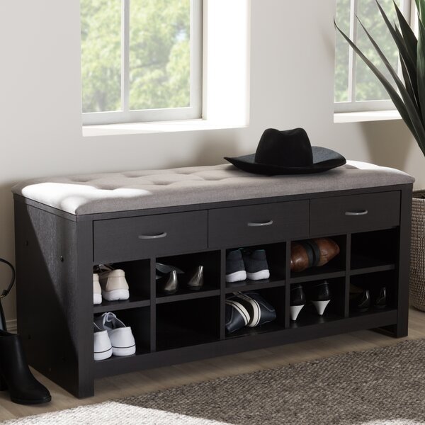 Upholstered Storage Bench by Charlton Home
