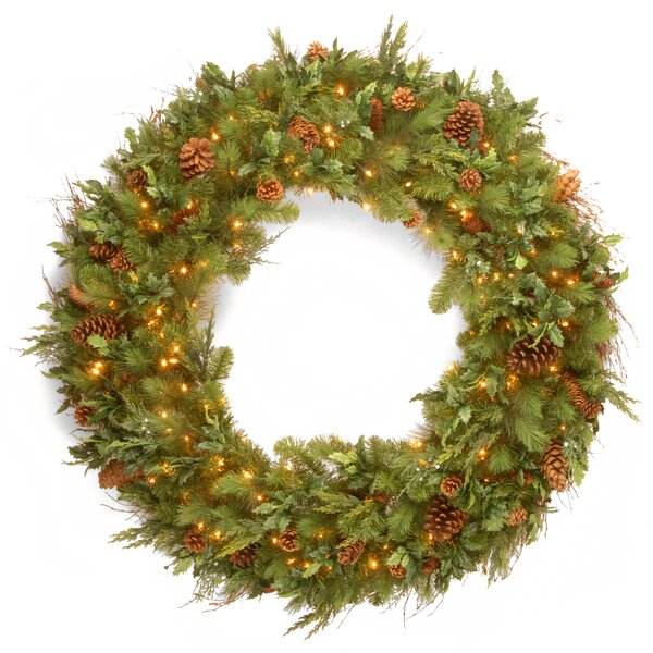 48 Lighted Pine Wreath by National Tree Co.