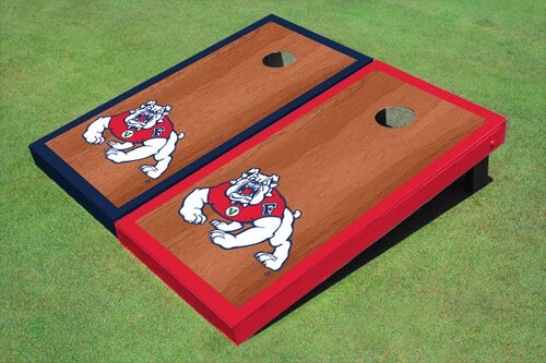 NCAA 10 Piece Border Cornhole Board Set by All American Tailgate