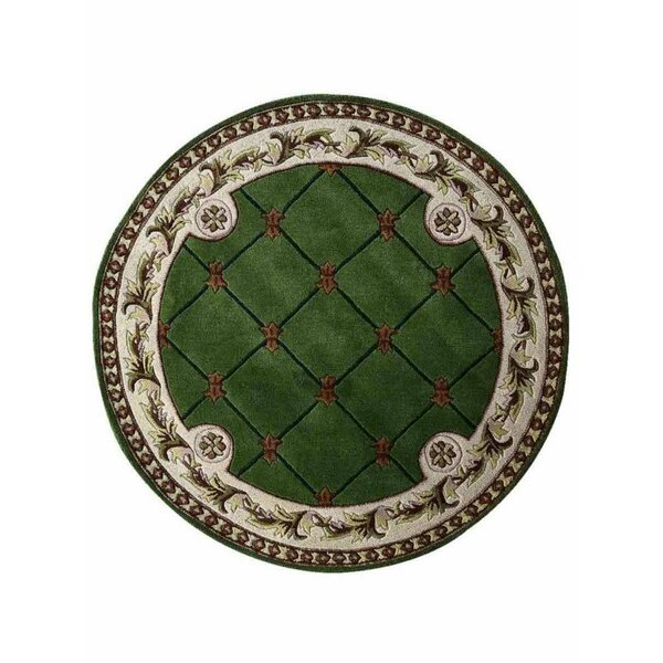 Knecht Hand-Tufted Wool Green/White Area Rug by Alcott Hill