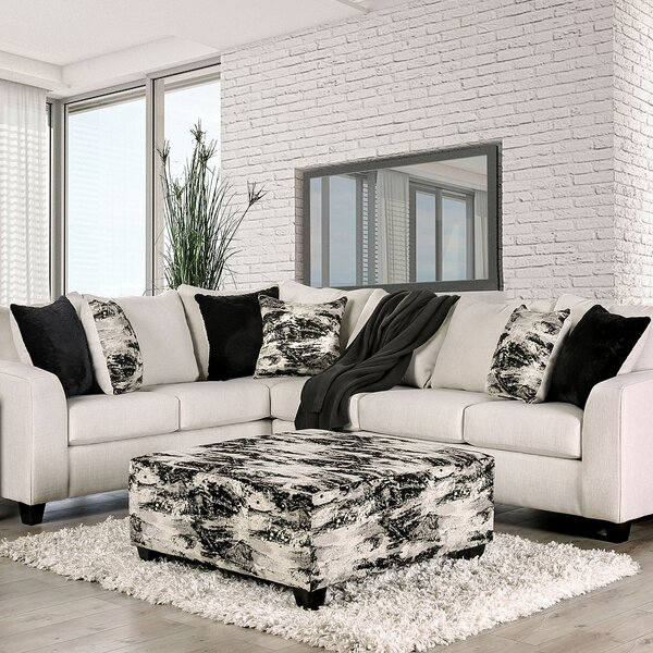 Review Rixensart Symmetrical Sectional With Ottoman