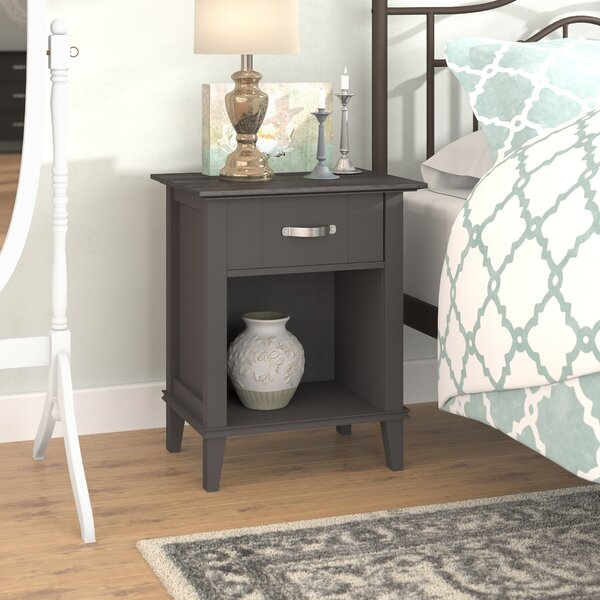 Myles 1 Drawer Nightstand by Charlton Home