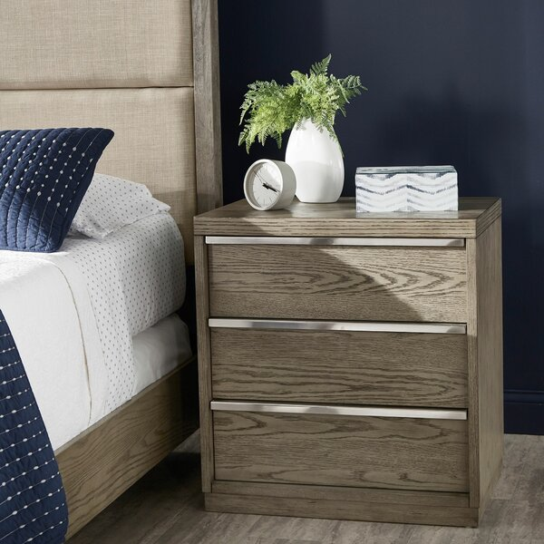 Duquette 3 Drawer Nightstand by Mercer41