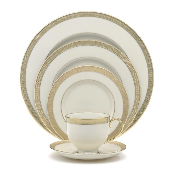 Lowell Bone China 5 Piece Place Setting, Service for 1 by Lenox