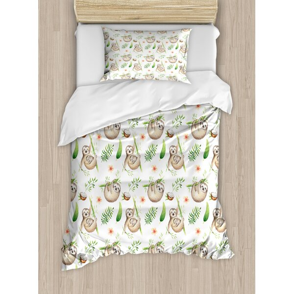 Sloth Duvet Cover Set by Ambesonne