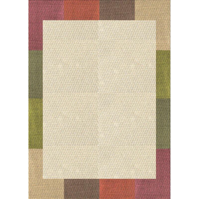 East Urban Home Haskins Geometric Wool Brown Area Rug Wayfair