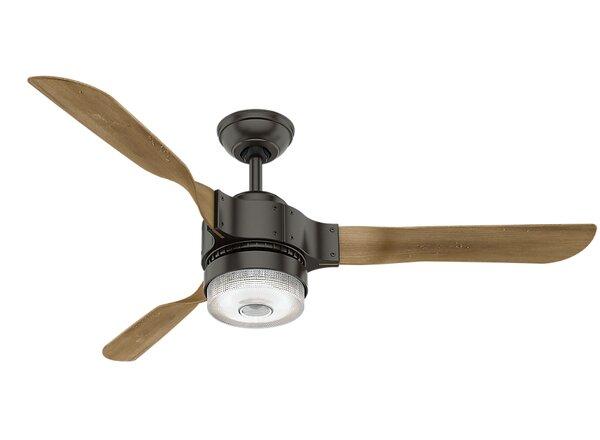 54 Apache Wi-Fi 3 Blade Ceiling Fan with Remote by Hunter Fan