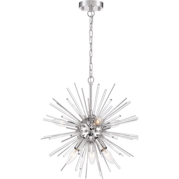 Folsom 8 - Light Sputnik Sphere Chandelier with Crystal Accents by Everly Quinn Everly Quinn