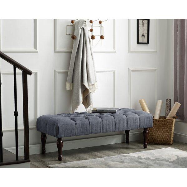 Maestas Upholstered Bench by Charlton Home