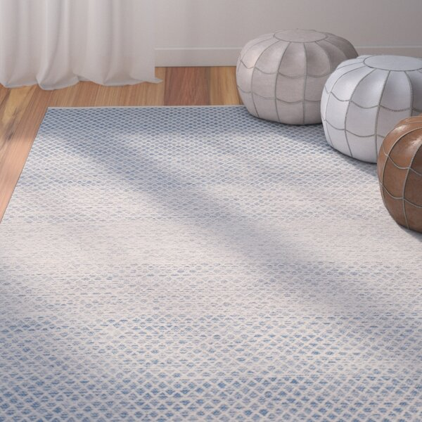 Saleem Hand-Woven Blue/Ivory Area Rug by Bungalow Rose