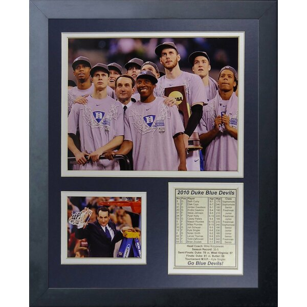 Duke University Blue Devils 2010 National Champions Podium Framed Memorabilia by Legends Never Die