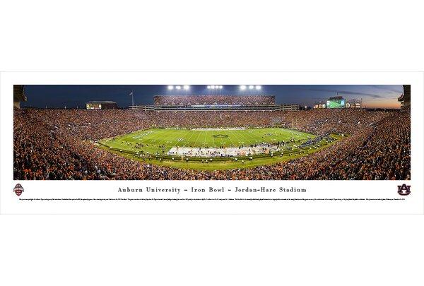 NCAA Auburn University - 50 Yard Line - Twilight Photographic Print by Blakeway Worldwide Panoramas, Inc