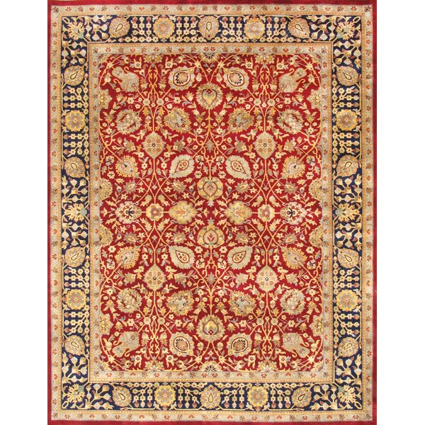 Tabriz Hand-Knotted Red Area Rug by Pasargad