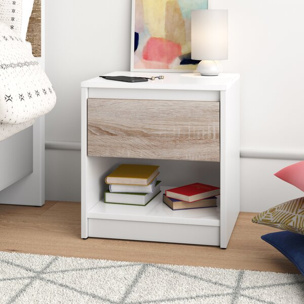 Brookston 1 Drawer Nightstand by Trule Teen