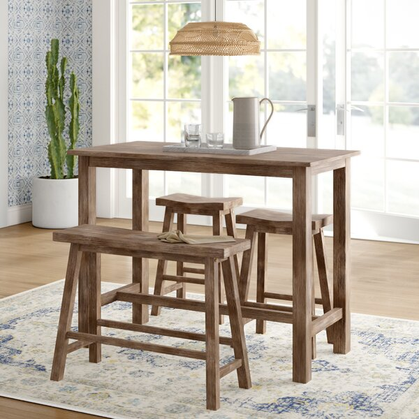 #1 Raymundo 4 Piece Pub Table Set By Mistana Spacial Price