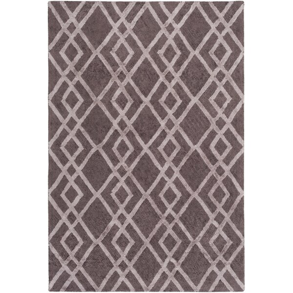 Bradt Hand-Tufted Purple Area Rug by Wrought Studio