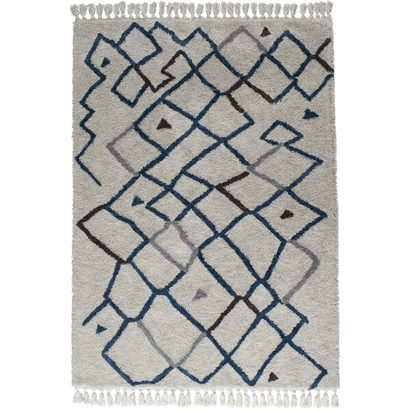 Bouvier Ivory/Cream/Blue Area Rug by Bloomsbury Market