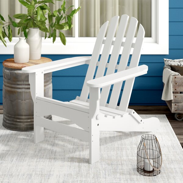 Hartington Plastic Folding Adirondack Chair By Three Posts