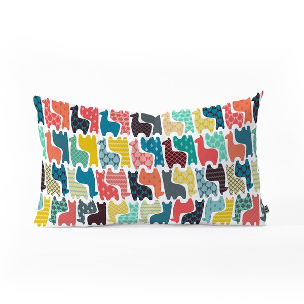 Sharon Turner Baby Llamas Oblong Lumbar Pillow by East Urban Home