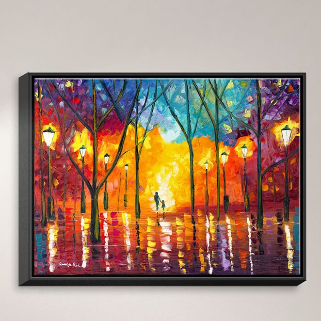 """Colorful Fox In Hat wall art printed on canvas 22/'/' X 16/"""" solid pine frame"""