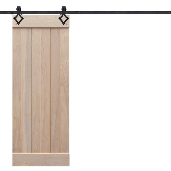 Rustic Plank Wood 1 Panel Interior Barn Door by Barndoorz