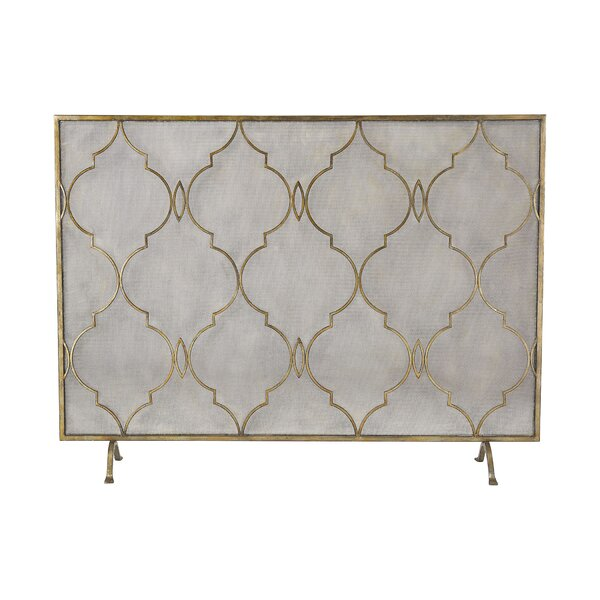 Fontaine Single Panel Metal Fire Back by Mistana