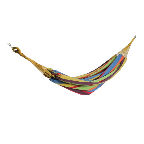 Houser Striped Woven Double Brazilian Tree Hammock by Bungalow Rose Bungalow Rose