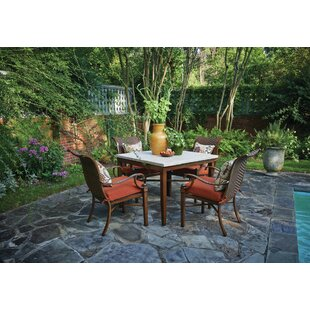 Panama 5 Piece Sunbrella Dining Set with Cushions By Peak Season Inc.