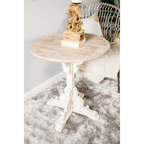 Chambery Traditional Round Wood End Table by Ophelia & Co.