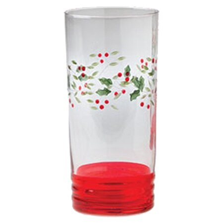 Winterberry 20 oz. Crystal Highball Glass (Set of 4) by Pfaltzgraff