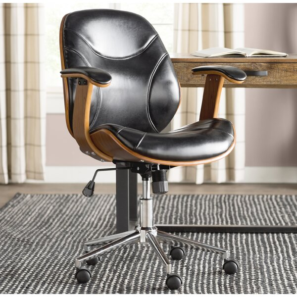 Aida High-Back Leather Desk Chair by Trent Austin Design