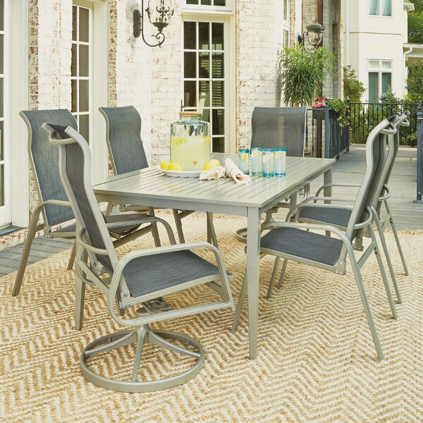 Dinan Outdoor 7 Piece Dining Set by Red Barrel Studio