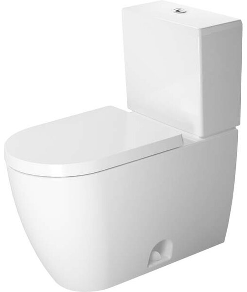Me by Starck 1.32 GPF Elongated Two-Piece Toilet with Glazed Surface (Seat Not Included) by Duravit