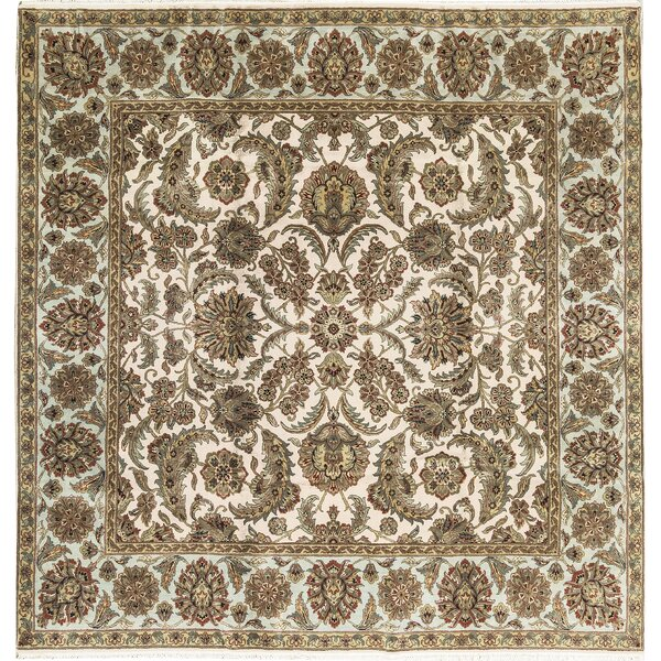 One-of-a-Kind Hand-Knotted Wool Beige/Olive Indoor Area Rug by Bokara Rug Co., Inc.