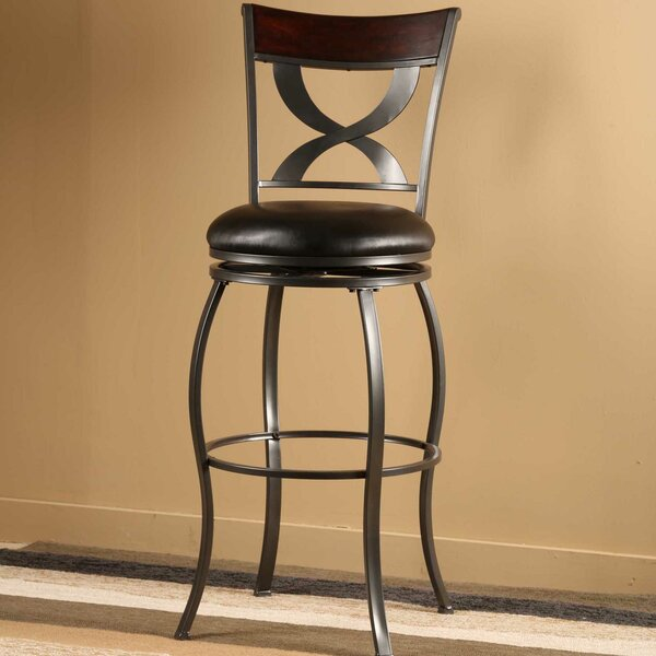 Stockport 30 Swivel Bar Stool with Cushion by Hillsdale Furniture