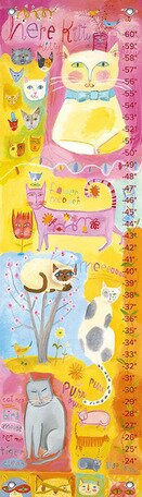 Kitty Cat Cuteness Growth Chart by Oopsy Daisy