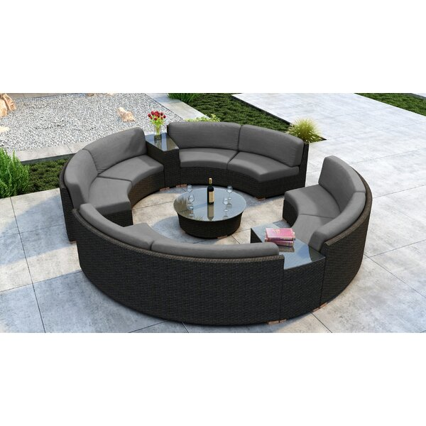 Glen Ellyn 7 Piece Sectional Seating Group with Sunbrella Cushion by Everly Quinn
