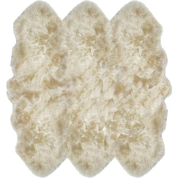Russ Sheepskin Tan Area Rug by Willa Arlo Interiors