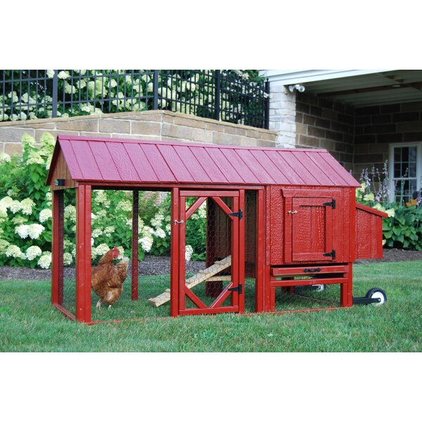Dinah Atlanta Chicken Tractor with Chicken Run by Tucker Murphy Pet