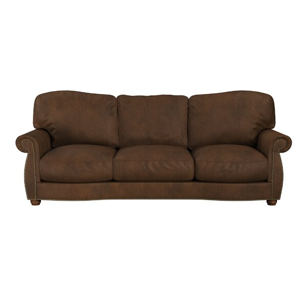 Great Sale Tiffany Leather Sofa by Westland and Birch by Westland and Birch