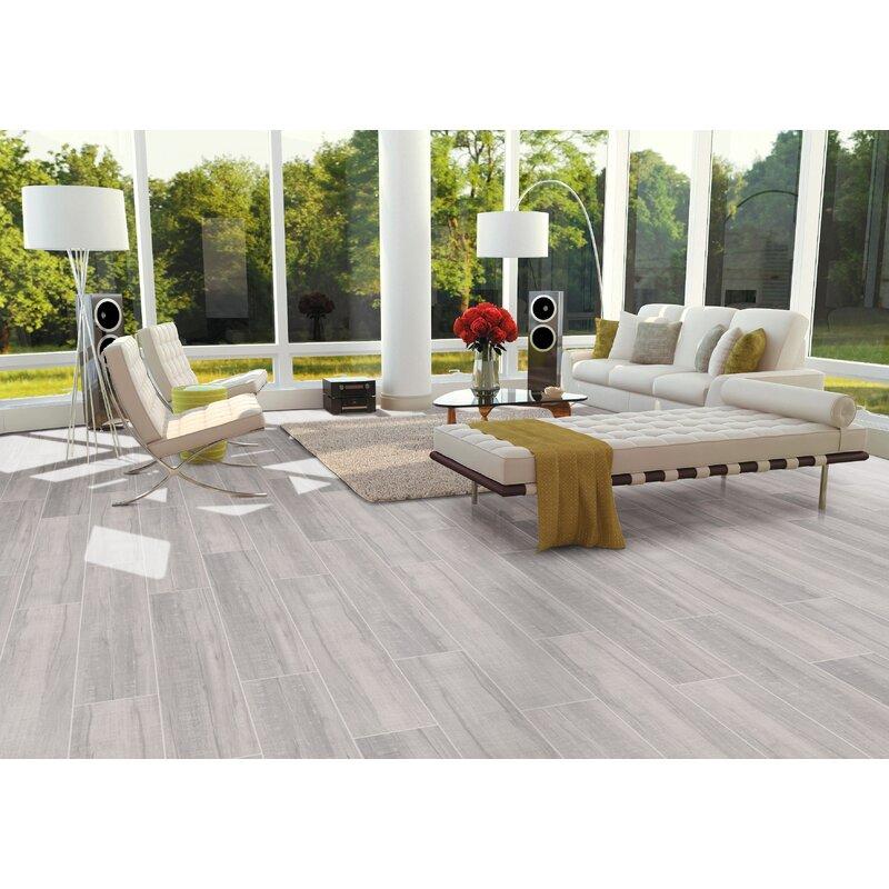 Msi Belmond Pearl 8 X 40 Ceramic Wood Look Tile In White Wayfair