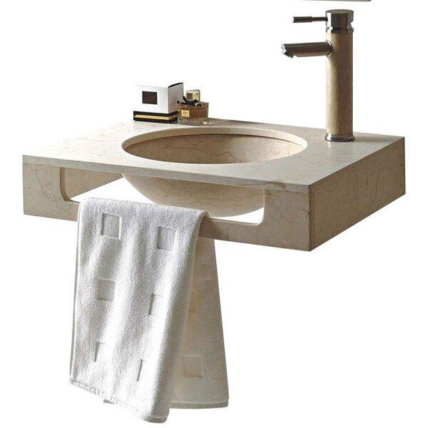 Rome Stone 24 Wall Mount Bathroom Sink