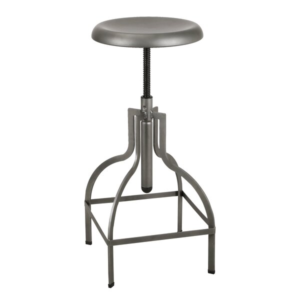 Elizabet Adjustable Height Bar Stool by Williston Forge