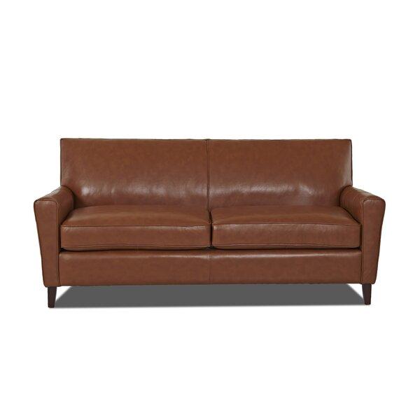 Grayson Leather Sofa by Wayfair Custom Upholstery™