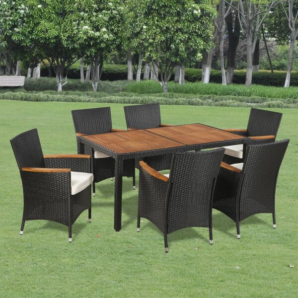 Stourbridge Outdoor 7 Piece Dining Set with Cushions by Ivy Bronx