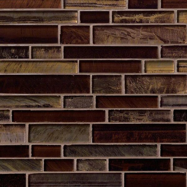 Artista Interlocking Random Sized Glass Mosaic Tile in Brown by MSI