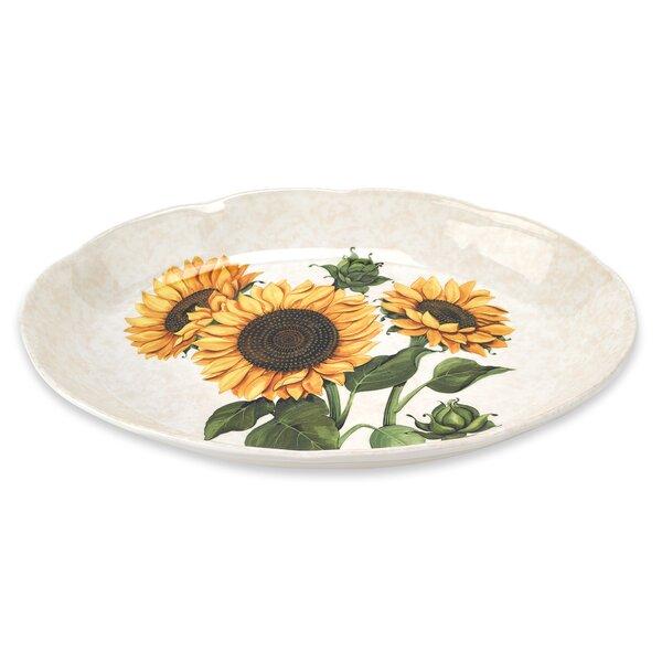 Sunflower 18 Oval Platter by Lorren Home Trends