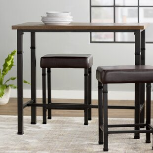sevigny 3 piece pub table set - Kitchen Table With Bar Stools