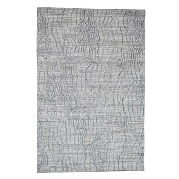 One-of-a-Kind Ezzell The Tree Bark Oriental Hand-Knotted Gray Area Rug by World Menagerie