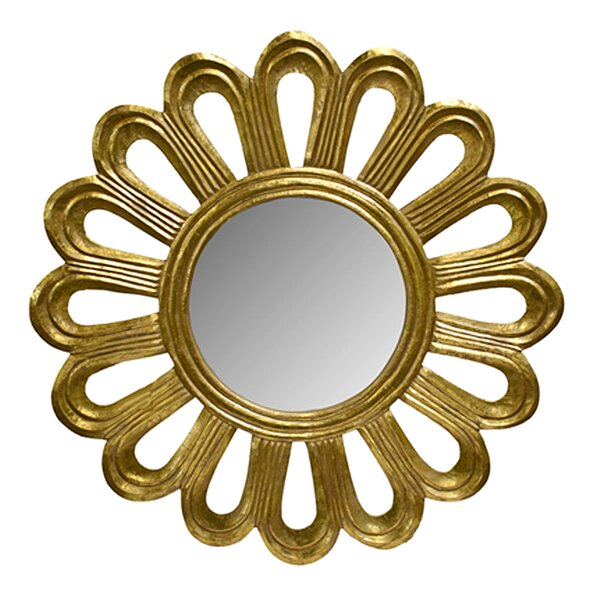 Paquette Flower Carved Accent Mirror by World Menagerie